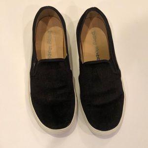 Dirty Laundry Black Velvet Slides
